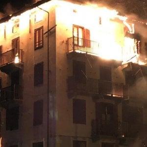 allarme incendi all'hotel di Balme